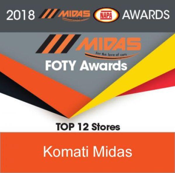 MIDAS KOMATIPOORT - Amongst the Top Twelve Midas Stores in SA – 2018